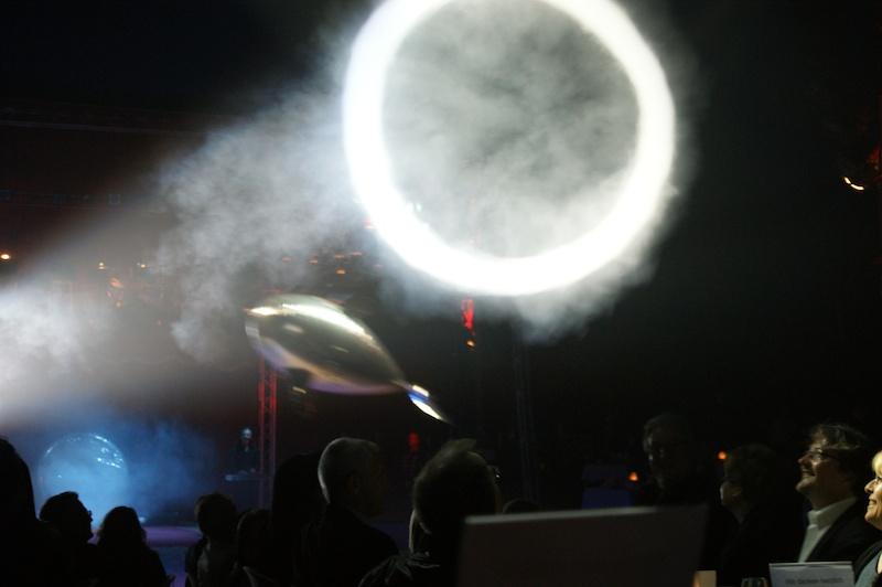 Claude Griblez mit Willi und der Wuschmaschine an der Circusnight 2011